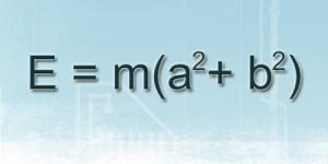 Math Joke: Einstein meets Pythagoras